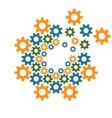 circle gear design template vector image