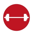 dumbbell weight sport gym icon red circle vector image