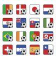 football flag icons vector image