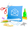 mail minus vector image