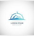 mountain star logo vector image