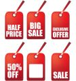 sale gift tags vector image