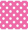 seamless pink polka dot vector image