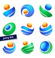 Set of design element business logo color icon vector image