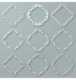 Set of white frames vector image