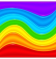Rainbow plastic waves abstract background vector image