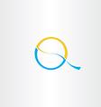 letter q logotype icon design vector image
