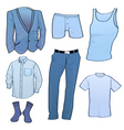 clothing for men vector image vector image