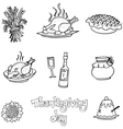 Doodle of Thanksgiving element food vector image