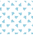 flat minimalistic paper planes seamless vector image