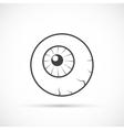 Halloween eyeball icon vector image