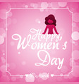 happy womens day bubbles background vector image