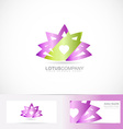 Lotus flower 3d logo vector image
