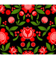 Gorodets painting seamless pattern Floral ornament vector image
