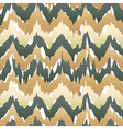 Seamless ikat pattern in beige Abstract seamless vector image