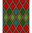Seamless Christmas Knitted Pattern vector image vector image