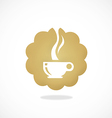 tea coffee cafe icon abstract logo vector image