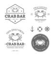 Crab logo set vector image