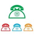 Retro telephone sign vector image