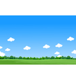 beauty landscape background vector image