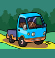 cartoon image of a small truck vector image