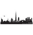 Dubai UAE skyline Detailed silhouette vector image