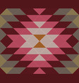 ethnic geometric ornament kilim turkish woven rug vector image