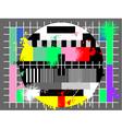 Grunge color test for tv vector image