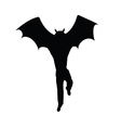 half bat half man silhouette vector image