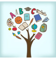school tree vector image