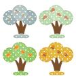 Season cartoon trees vector image