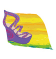 Shoes on a high heel vector image