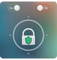 slide to unlock button and on off buttons isolated vector image
