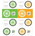 wheel business card 2 vector image