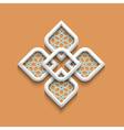 3d elegant pattern in arabic style vector image