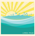 tropical island with palms nature seascape vector image