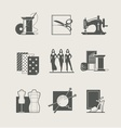 Sewing Set of icons vector image vector image