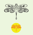 Dragonfly decor vector image