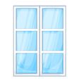Plastic window outside vector image vector image