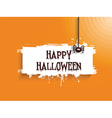 halloween spider background 2508 vector image