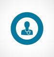 doctor bold blue border circle icon vector image