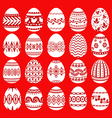 easter egg set red vector image vector image