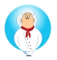 brutal chef looking down on his subordinates vector image
