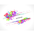 colorful swirls frame vector image vector image
