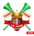 Announcement Sporting Poster with Football Ball vector image