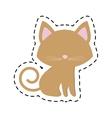 Cat pedigree feline adorable cut line vector image