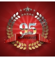 Celebrative Golden Frame for 95th Anniversary vector image