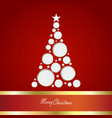 christmas card with tre vector image