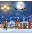 Christmas Winter Cityscape vector image