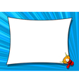Comic book loudspeaker announcement window page vector image